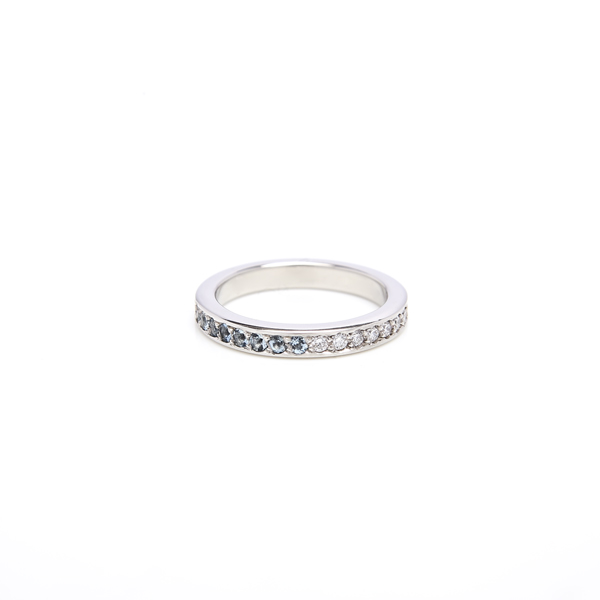 ring : aeon eternity ring diamonds and aquamarine : lge_0034