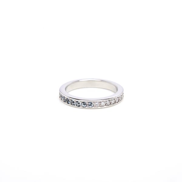 ring : aeon eternity ring diamonds and aquamarine : lge_0034