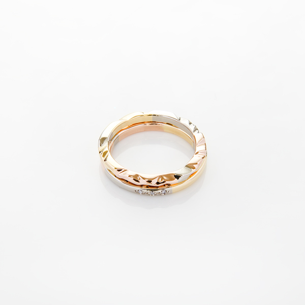 ring: carved segment ring and segment ring with diamonds : lge_1928