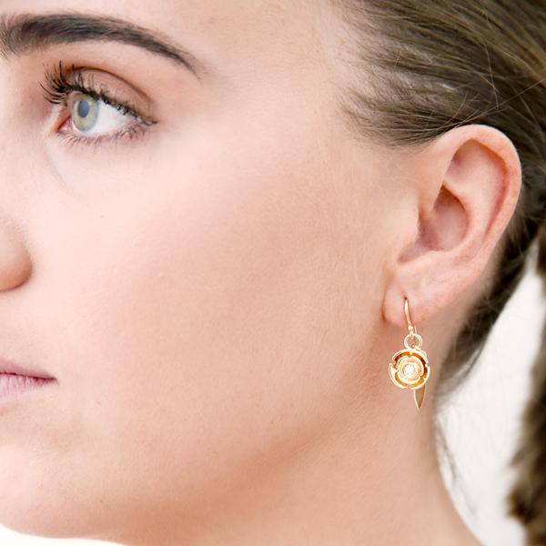 model : earring: yellow diamond sun blossom earring: lge_0092
